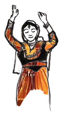 Indian dancer illustration