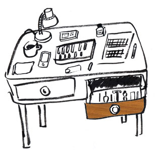 Work table illustration
